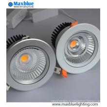 6-35 Вт наклоняемый и подвижный серебристый светодиодный потолочный светильник COB