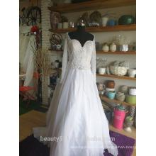 Vestido de novia de sirena Vestido de novia de encaje elegante Sweatheat P097