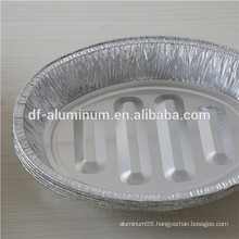 Extra-Large Deep Disposable Food Packing trays, Giant Oval Roasting Aluminum Foil Pan