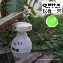 5W y 12W Bulbo al aire libre portable del LED, mercado de la noche de la alta calidad LED Luces caseras de la granja