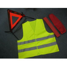 Warning Triangle Set with Safety Vest and E-MARK Approval