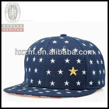 broken stars flat circular brim elastic embroidery snapback hat&cap