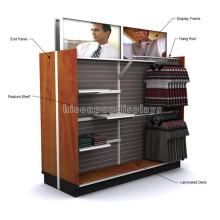 Piso fuerte tienda de ropa al por menor accesorios de ropa al por menor suministros de madera de 2 vías prendas de vestir para niños Showroom pantalla