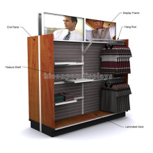 Strong Floor Retail Store Fixture Vestuário Comércio Suprimentos 2-Way Wood Kids Garments Displayroom Display