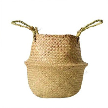 Factory price natural woven seagrass belly basket flower basket flower pot basket for flower arrangement