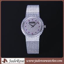 2016 heißer Verkauf Exquisite Diamant Uhr Wasserdichte Edelstahl Uhr