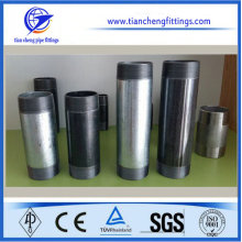 NPT long thread black&galvanized carbon steel pipe nipples