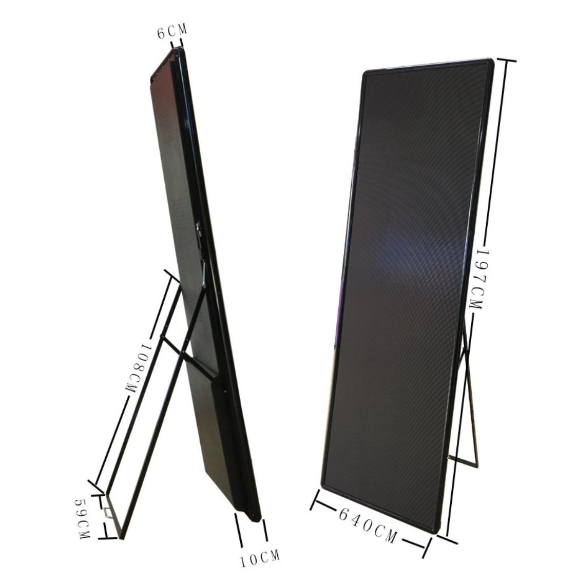 Mirror led display light and thin