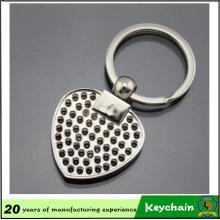 Porte-clés photo en forme de coeur blanc