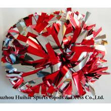2016 POM POM de rojo y plata metalizado