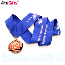 Selling well all over the world custom lanyard for 3d sports medal