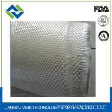 Tissu de fibre de verre blanc imperméable et ignifuge