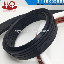rubber/nylon/PU/PTFE V ring with v style stuffing PTA Fabric cloth NBR