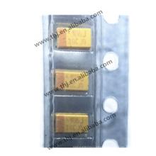 Tantalum Capacitor Solid 10uF 6.3V A CASE 20% Inward L SMD 3216-18 4 Ohm 125C T/R  RoHS TAJA106M006RNJ