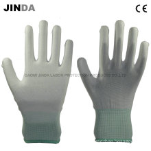 PU Coated Labor Protective Guantes Work Gloves (PU002)