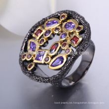 Anillo de tungsteno negro anillo de zirconio precio negro