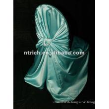 binden Satinbeutel Stuhlabdeckung mit Diamant-Schnallen