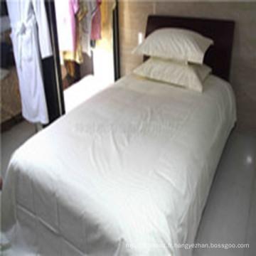 Doux et confortable 100 drap de lit en polyester tissu agréable pour la peau se sentir mieux