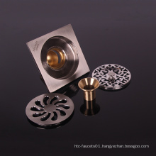 good price square brass commercial shower floor drain strainer