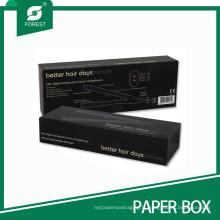 Boîte d'emballage de papier noir pour fer plat de fer à friser