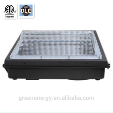 iluminación exterior ETL y DLC listadas IP65 Ra> 80 5 años de garantía 120w llevó la luz del paquete de pared