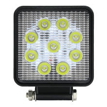 Квадратный яркий светодиодный прожектор мощностью 27 Вт для автомобиля