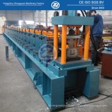Máquina de formación de rollo de bastidor de almacenamiento con punzonado