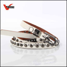White with Rivet Girl's Fashion Belt