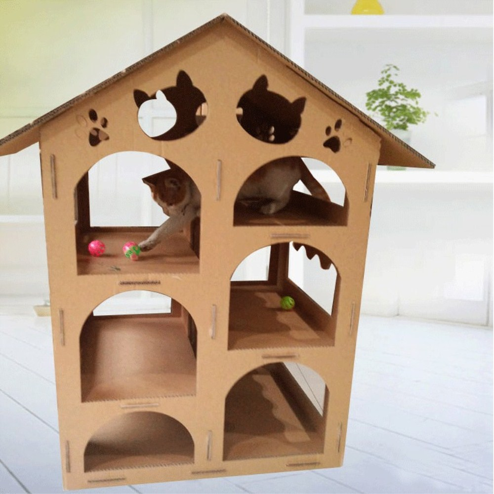 cat paper house