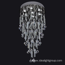fancy light fitting modern crystal hanging pendant lamp