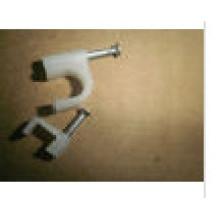Clips de cable cuadrados / circulares de 7 mm con plástico para cables eléctricos