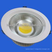 15W, 30w de dissipation de chaleur en aluminium évier downlight dimmable