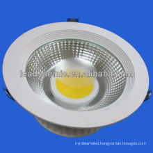 15W,30w aluminum heat dissipation cob led downlight dimmable