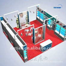 Custom & Design Modular Portable Exhibition Booth, exhibition booth system