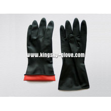 Double Color Industrial Latex Glove-5604