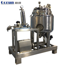 Tanque mezclador farmacéutico Tanque mezclado Tanque agitado