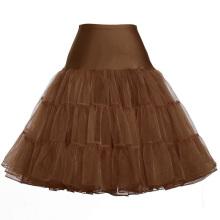 Grace Karin Mujer A-line corto vestido retro Vintage Crinolina Rockabilly Underskirt Enagua CL008922-18