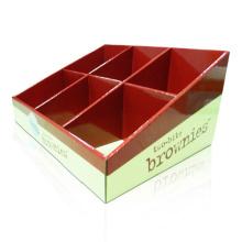 Unidade de exibição de bancada ondulada de 6 células para chocolate
