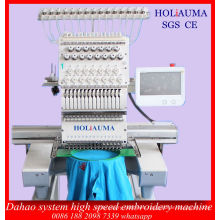 Best 1 Head 15 Colors China Dahao Software System Computer Embroidery Machine