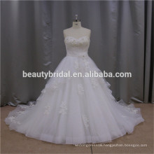 SL441 fish tail gathers stunning handmade flower bridal gowns corset back wedding dress