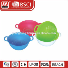 Hot Selling Round Shape Plastic Colander with two handles