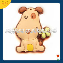 Cute pet dog shaped promotion 3d fridge magnet
