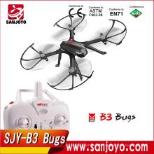 Lo nuevo MJX B3 Bugs 2.4Ghz 4CH Motor sin escobillas RC Dron Drone Plane con cardán y soporte de la cámara (sin cámara)