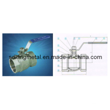 Stainless Steel 800wog 2-PC Reduce Ball Valve