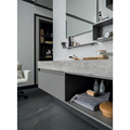 Modern Mirror Bathroom Storage Cabinets with Light