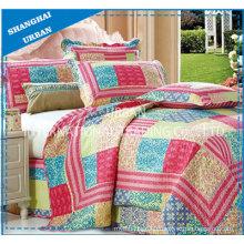 Bed Linens 5 Piece Printed Patchwork Quilt Bedspread