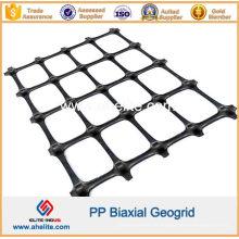 Géogrille biaxiale de PP avec l'ouverture Dimensions 65mmx65mm