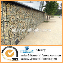 1mX1mX0.5m Galfan galvanized Zn welded flexible gabion stone basket for Zoo
