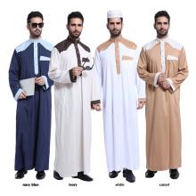 Chaude vente islamique vêtements dubai abaya polyester mélange musulman hommes abaya