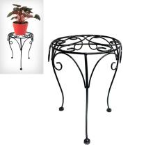 Decorativo Decoración para el Hogar Black Linellae Stool Flowerpot Stand